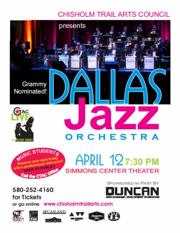 Grammy Nominated Dallas Jazz to Appear inDuncan