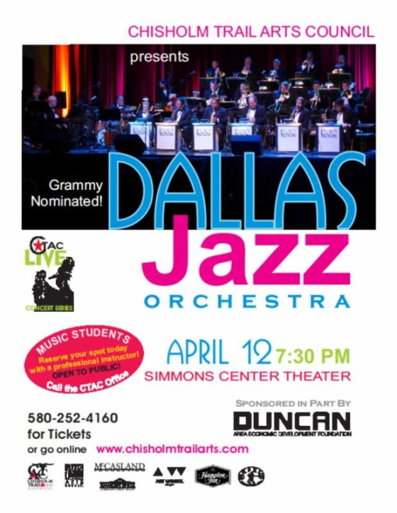 Grammy Nominated Dallas Jazz to Appear in Duncan